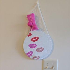 2/$25 Saks Fifth Ave pink kiss ping pong set